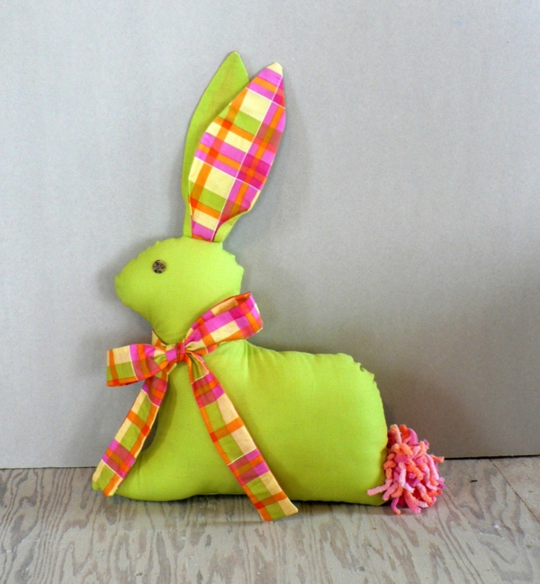 deco ideas easter green throws easter bunny