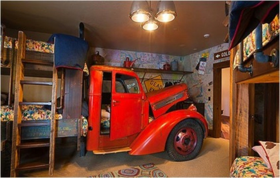 youth room for boys shape truck lorry bed