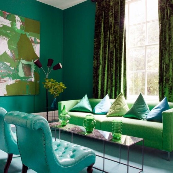 mint green wall paint for living room