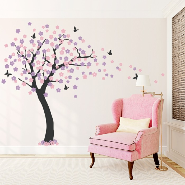 decorating wall decals tree nursery decorating girl's room