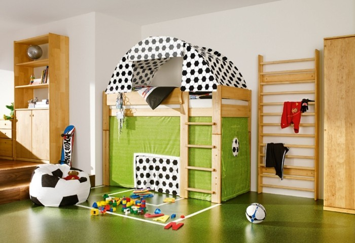 Nursery Decor Football Design Interior Ideas Bed
