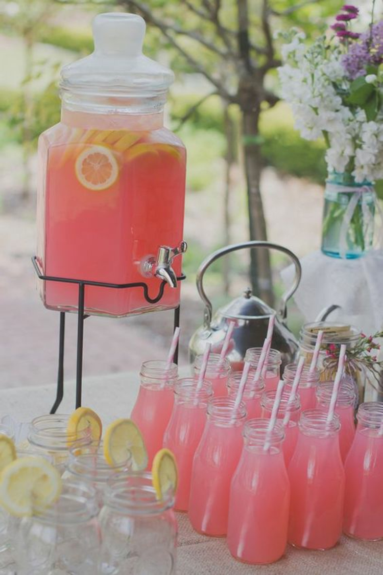 Table decoration garden party decoration itself make drinks