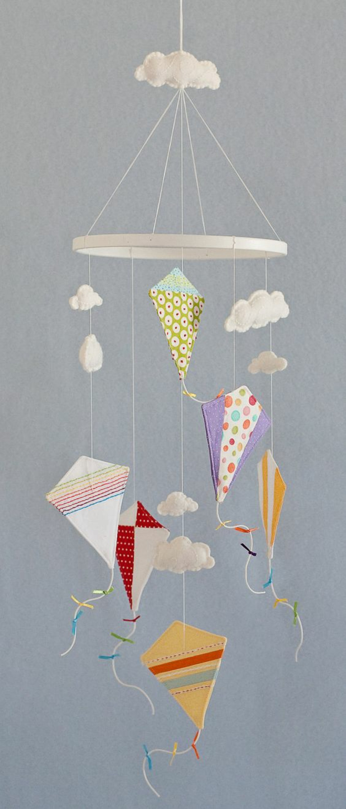 baby mobile made of fabric craft ideas