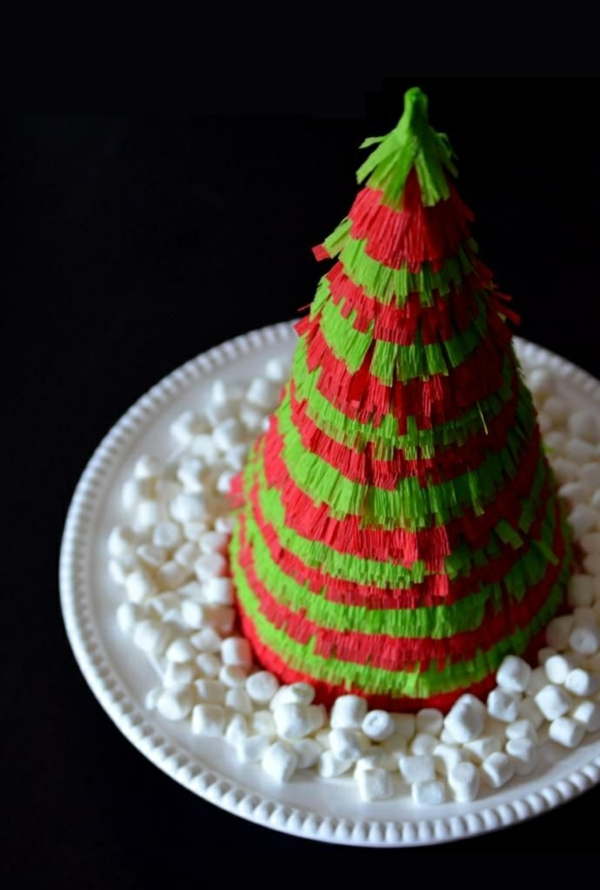 christmas tree ornaments christbaum make cardboard colored paper