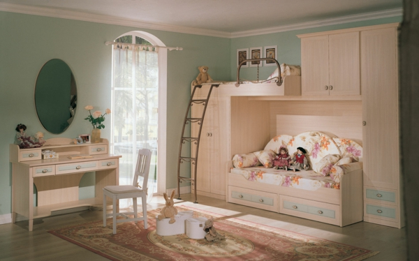 mint green wall paint color ideas for the kids room