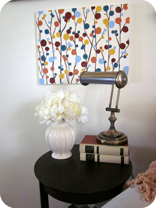 diy modern canvas pictures colorful dots