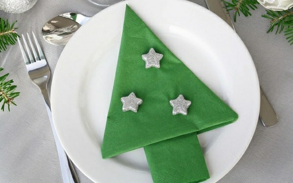 fir tree napkin folding stars