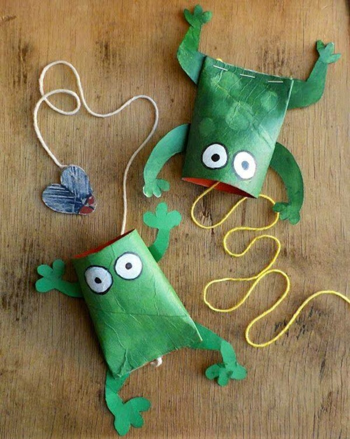 tinkering with toilet paper rolls diy ideas decorating ideas with kids frogs