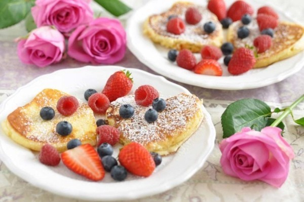 Enjoy a tasty breakfast on Valentine's Day for two