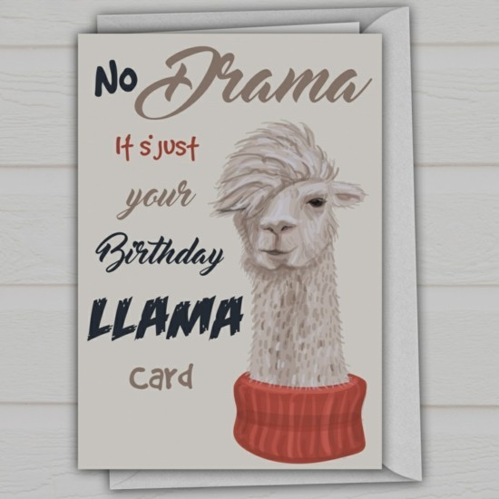 birthday card birthday decoration birthday motto south american lama