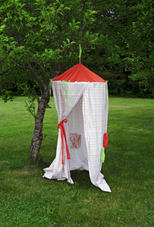 playful tents kids garden red white