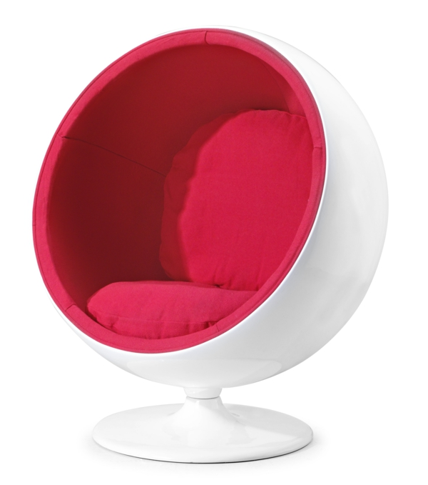 kids room design furniture design armchair sphere red white