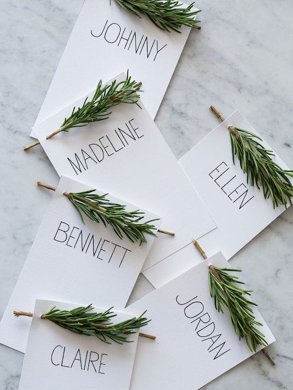 wedding decoration place card