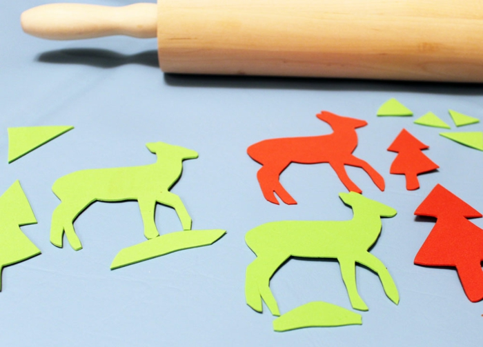make your own stamp rolling pin christmas paper crafting ideas