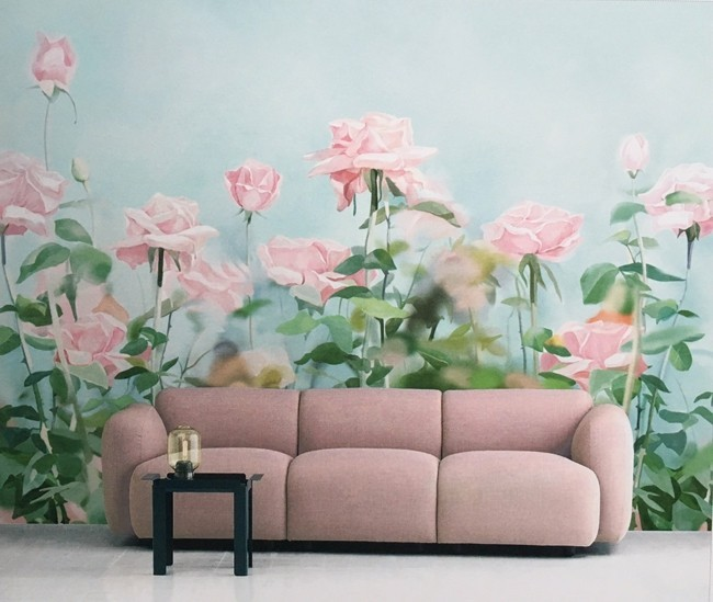 floral wallpaper deco ideas art