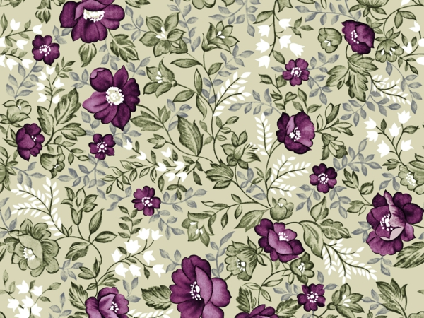 wall decoration wallpaper floral motifs green purple