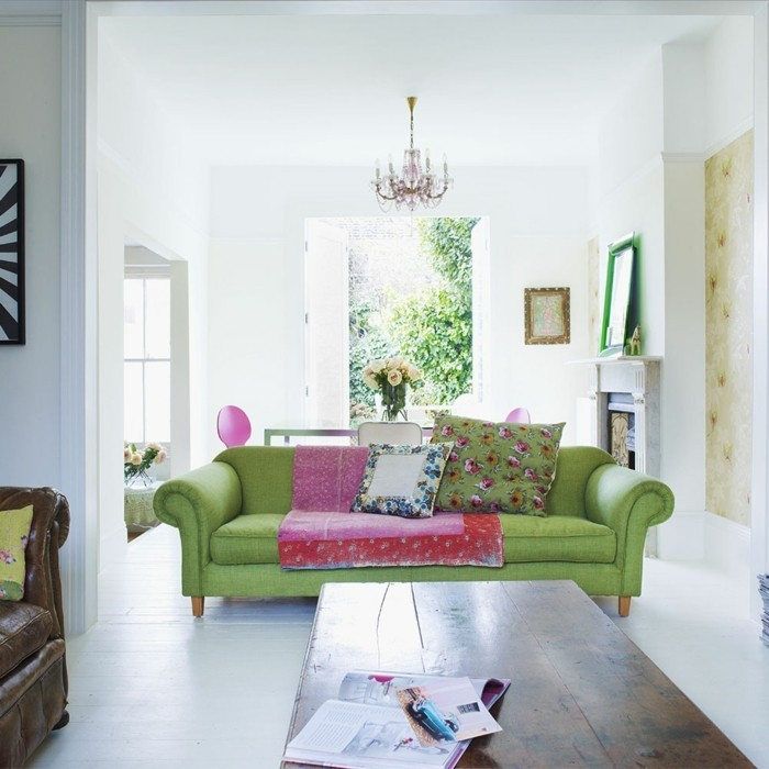 Residential Colors Wall Colors Trends Interior Design Color Greenery Design sofa