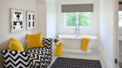 Photo of Make the most of your bathroom decor in black and white