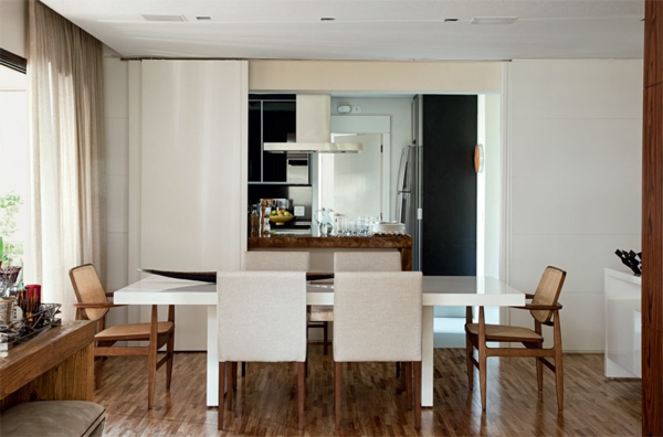 closet kitchen dining room partition sliding door