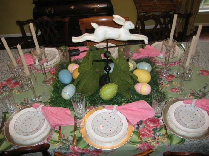 decoration easter festive table decoration easter easter eggs candles