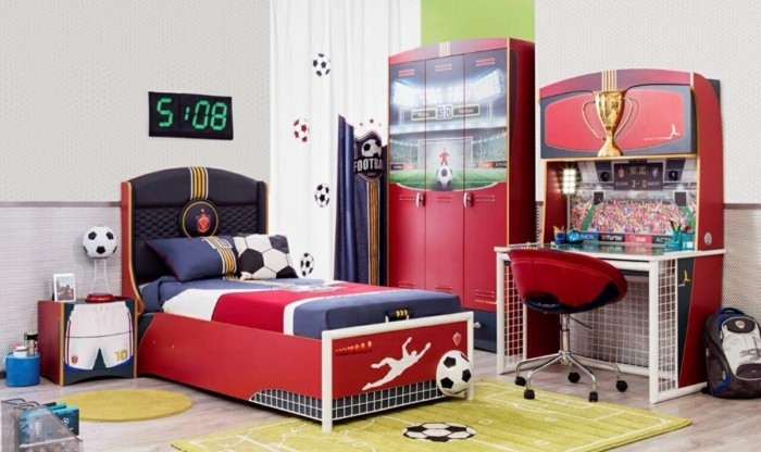 Nursery Interior Football Design Interior
