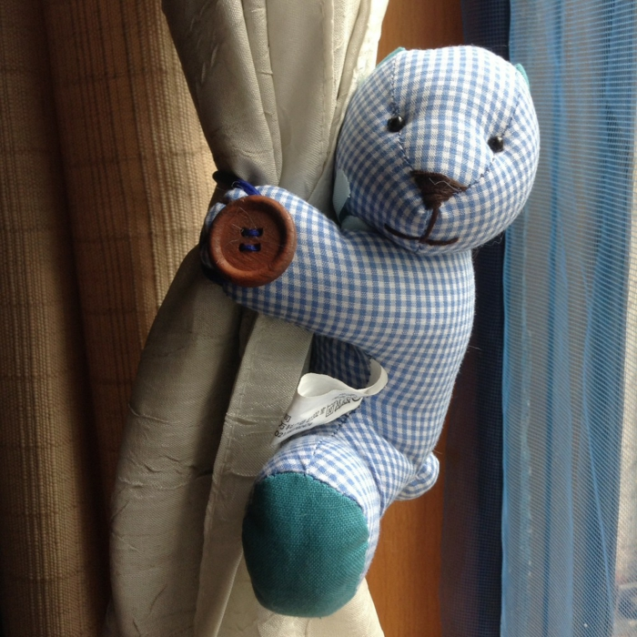 curtain holder curtains curtain curtains teddy bear blue