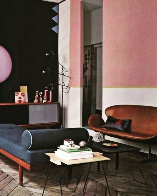 Wall colors ideas pink inspiration