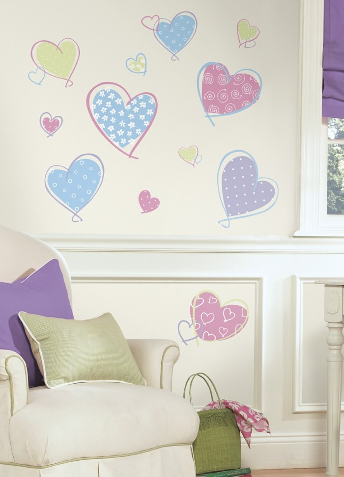 all the best for valentine's day wall stickers heart wall decoration ideas