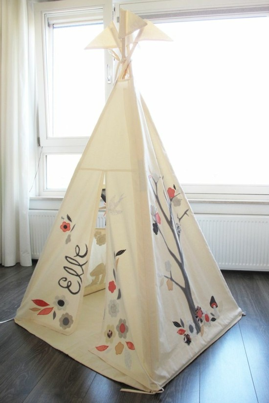 children's room design with play tent tipi tent build yourself