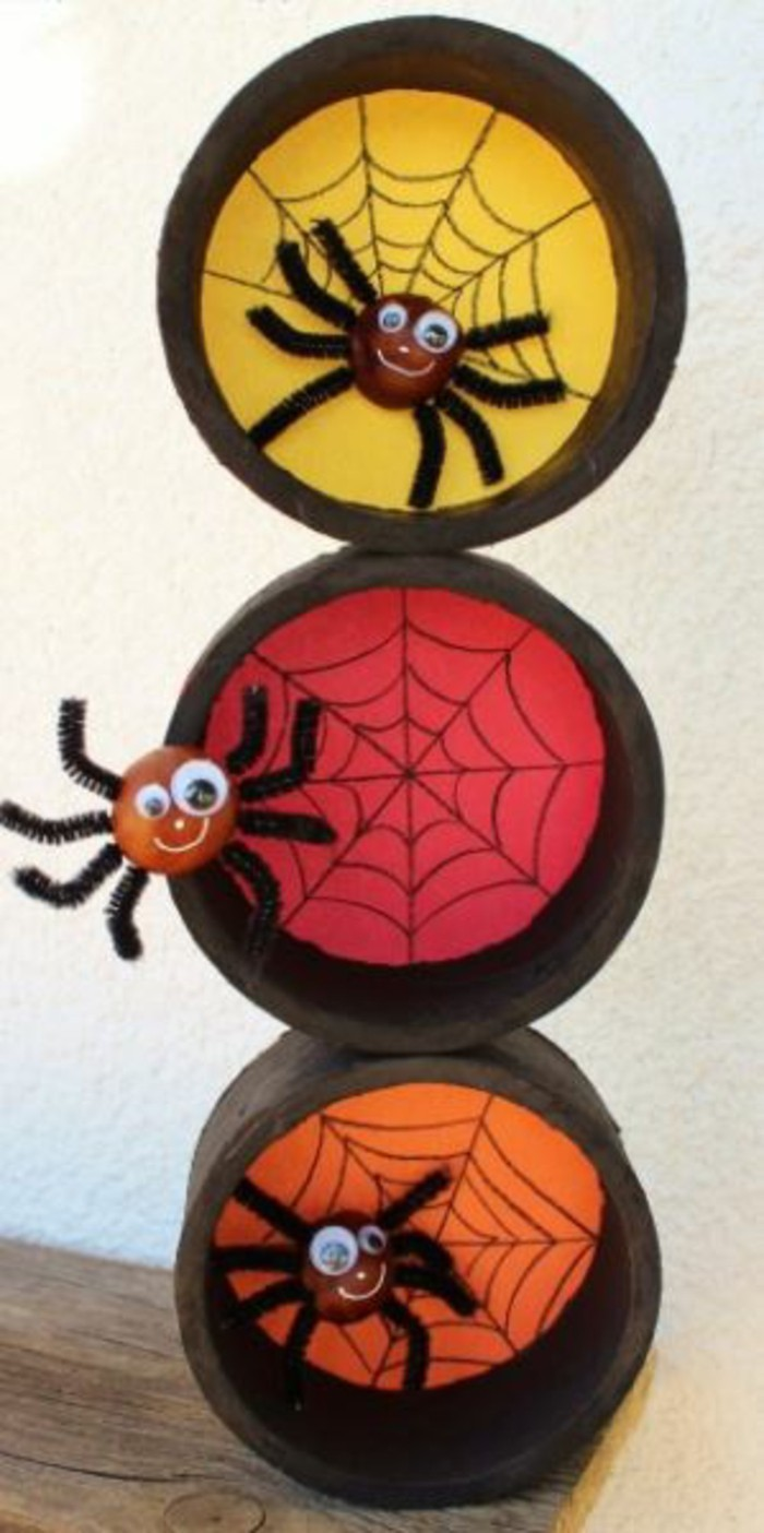 Make window pictures with children's spider