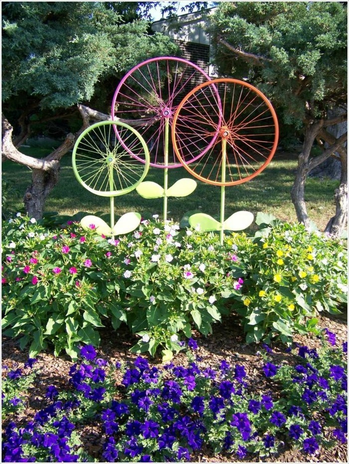 bicycle decorate as a flower
