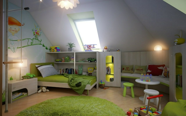 children's room pitched boy