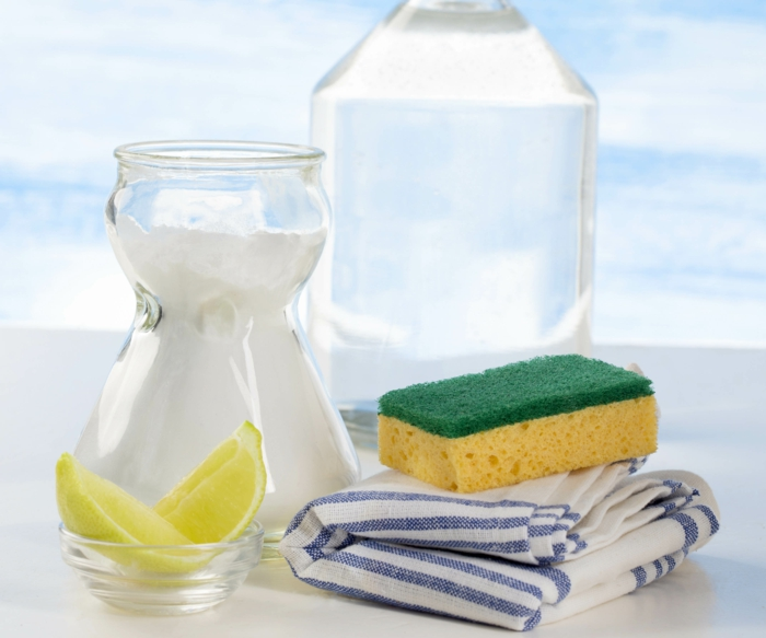 stainless kitchen cleaning natural cleaning agent lemon lemon