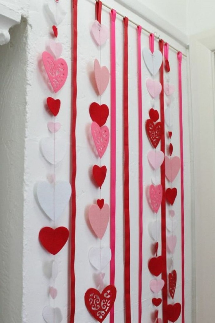 valentines day ideas wall decoration ideas hearts deco garlands