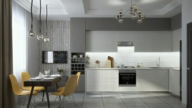 Photo of Kitchen set up in gray – inspirational designs