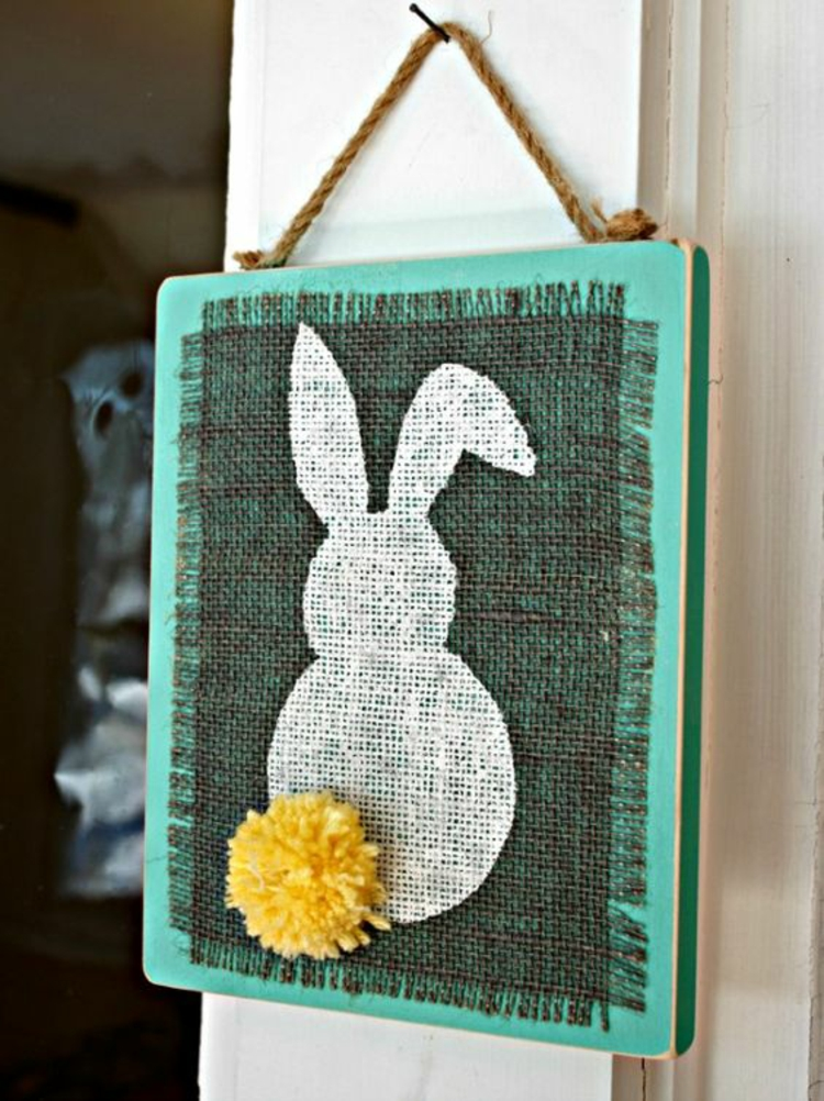 Easter decoration wooden decoration Easter decoration ideas Easter bunny flat