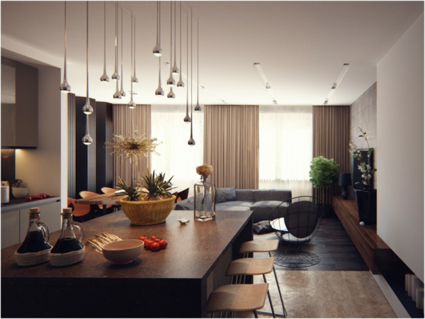gorgeous modern living room design candelabra kitchen island bar stools