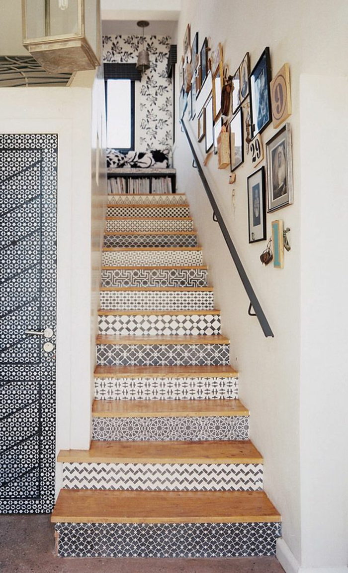 furnishing ideas staircase wallpapers pattern wallpaper