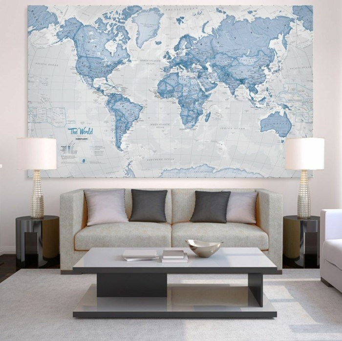 World map wall cool designs