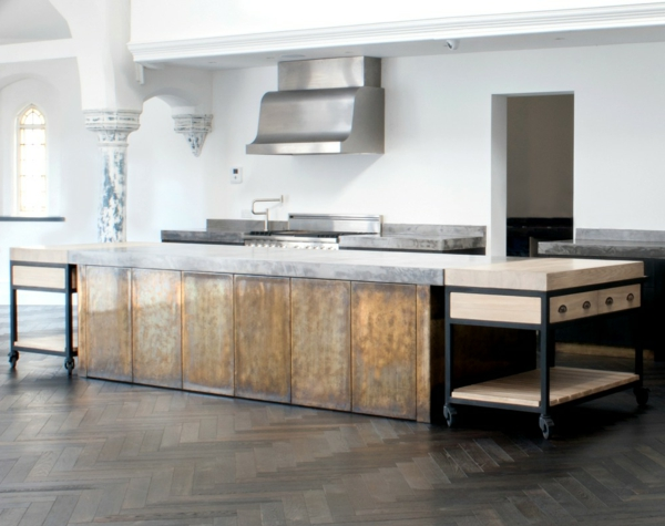 countertop concrete look great living ideas