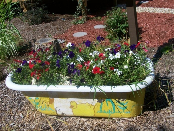 Ideas for garden unusual plant containers for outdoor use