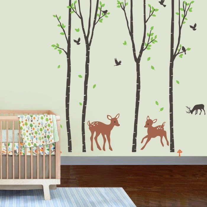 beautiful wall decals nursery trees animals