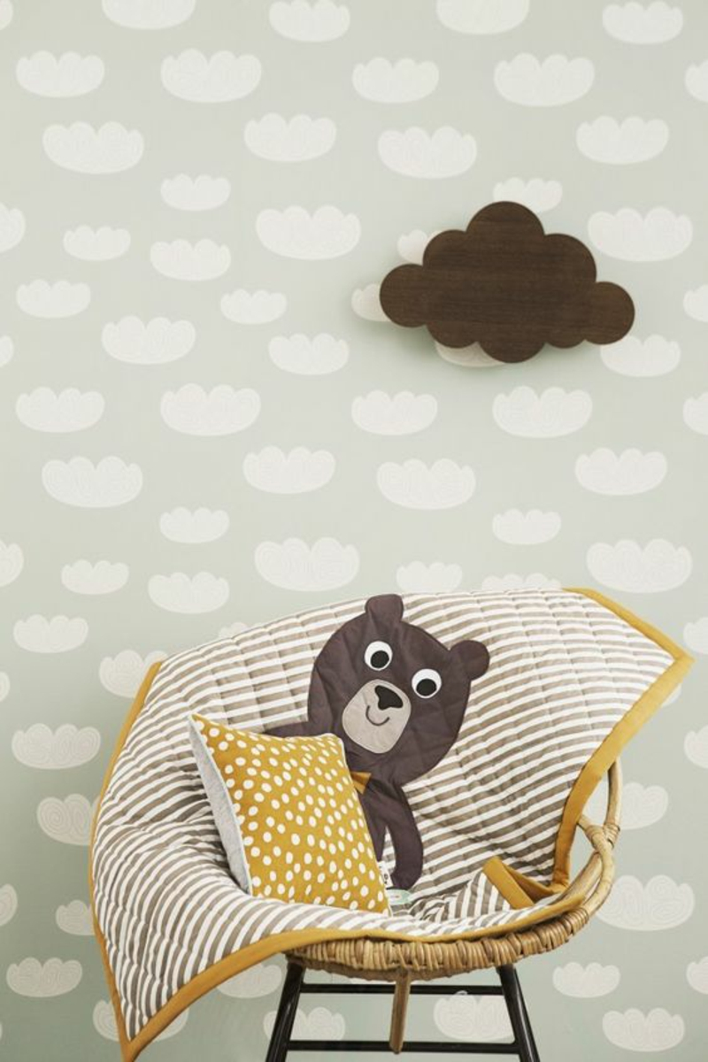 Pattern wallpaper Clouds wallpaper for nursery frame