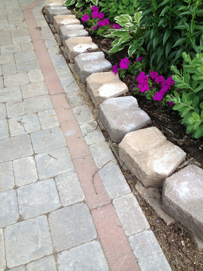 gardening with stones plant beds garden path