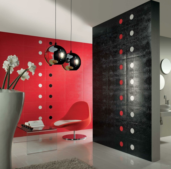 white red and black bathroom tiles