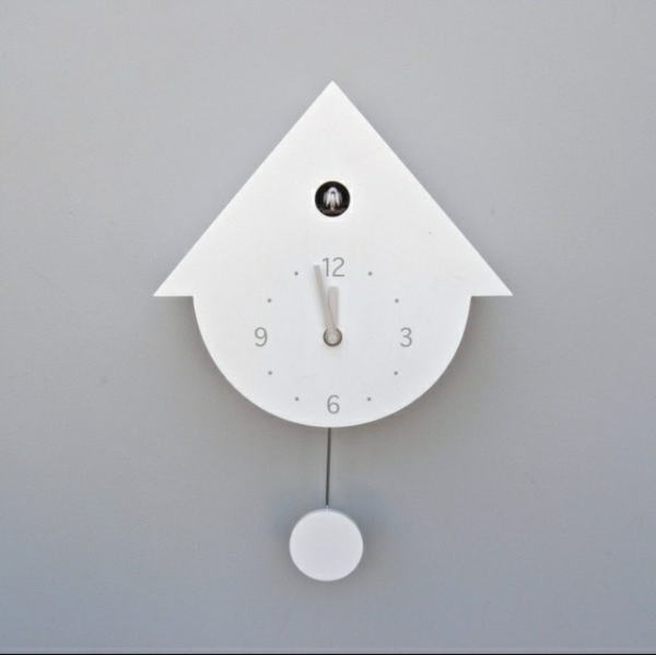 cuckoo clocks in white