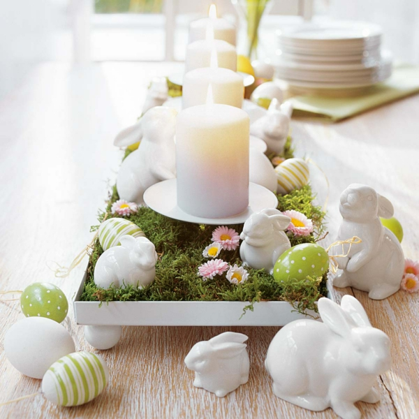 symbol candles white candles easter decoration
