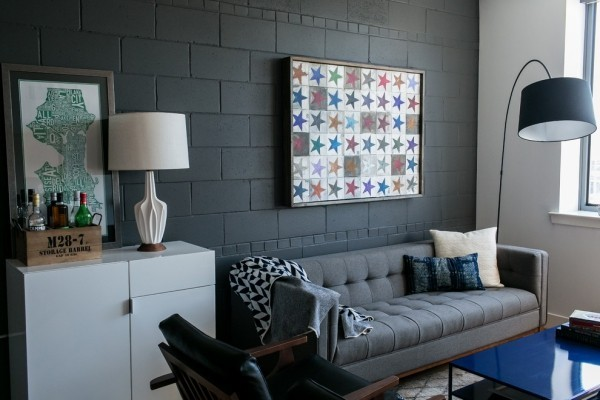 current interior design ideas black wall paint