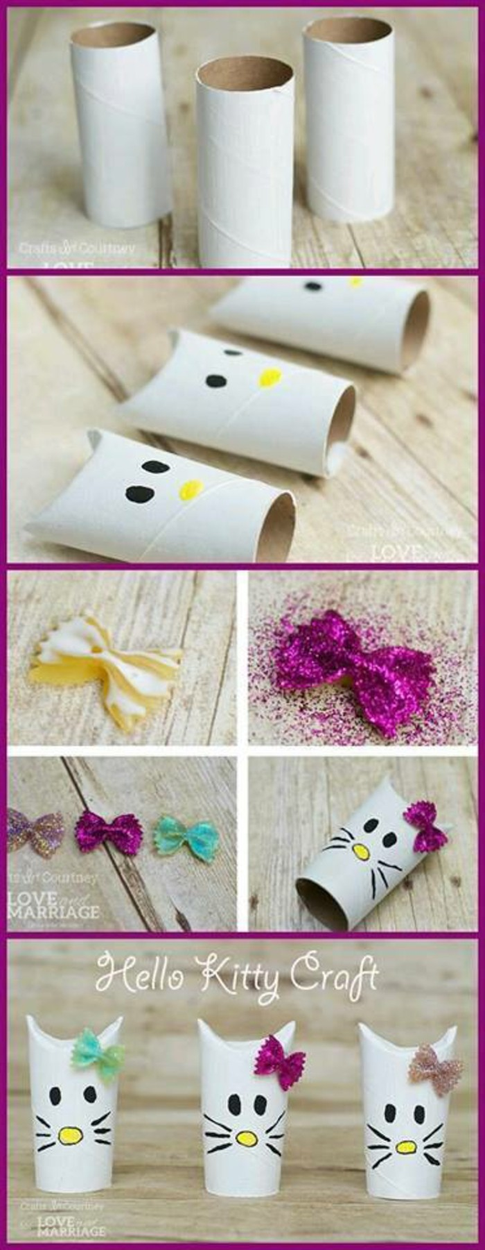 tinkering with toilet paper rolls diy ideas decorating ideas tinkering with kids helo kitty