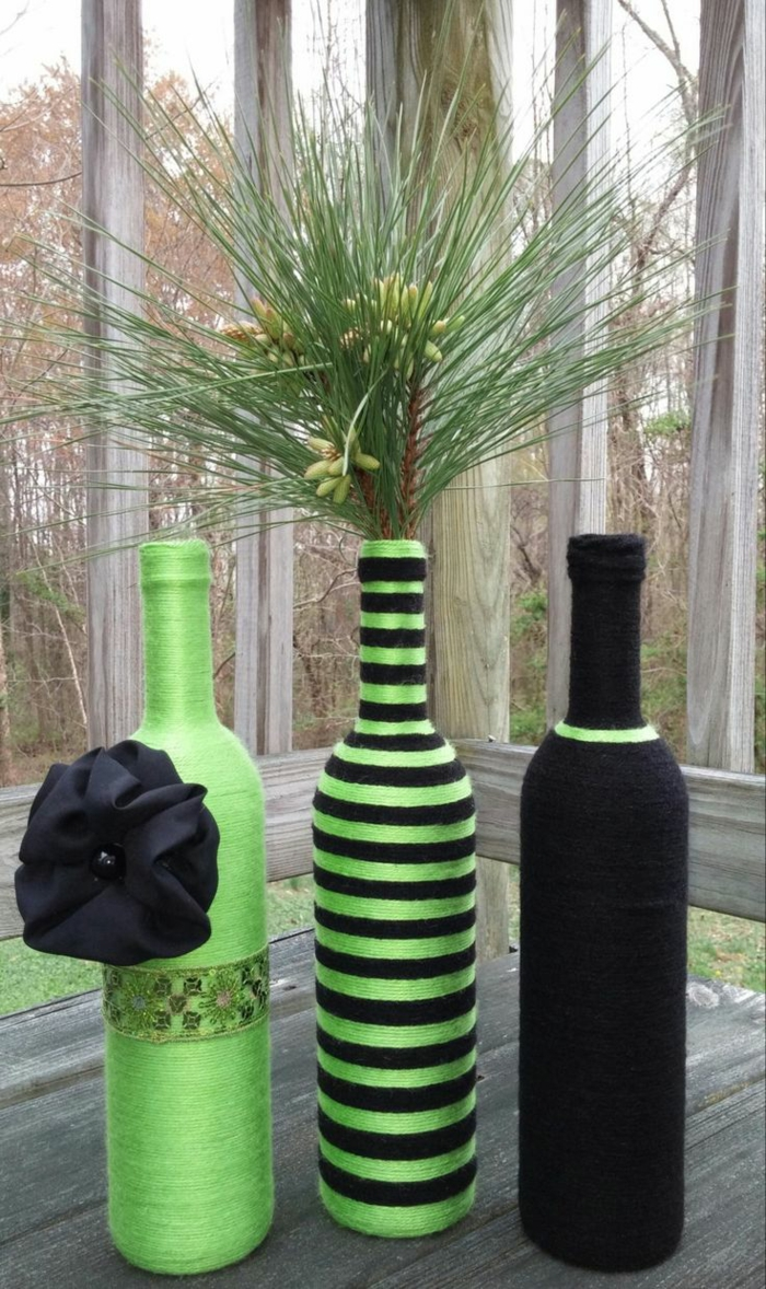 deco bottles thread green black deco ideas